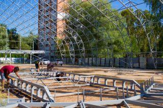 Строительство теннисного корта в Нижегородской области