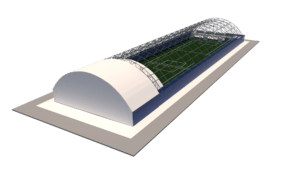 Футбольный манеж 24х85 на 2 поля