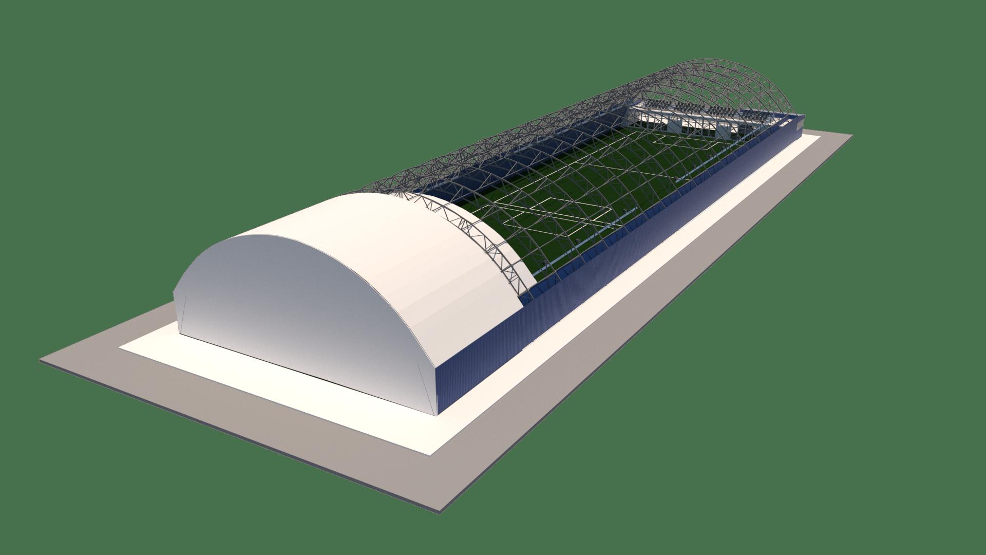 Типовой ангар 24x85 на два футбольных поля 20x40