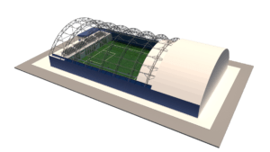 Крытый футбольный манеж 24х42м на одно поле 20х40. Тип В