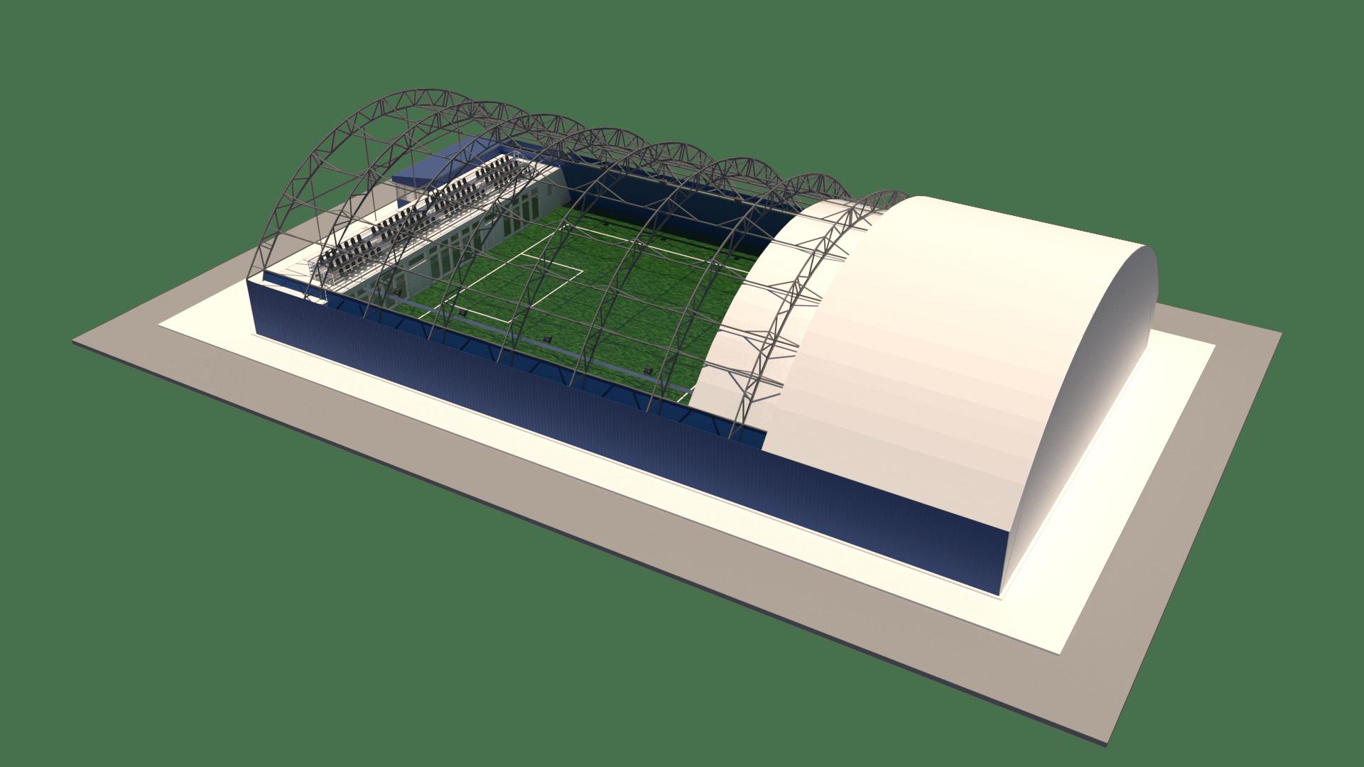 Типовой ангар 24х42 для футбольного поля 20х40