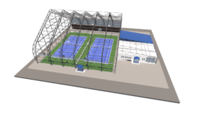 Теннисный манеж 36х36 на 2 корта