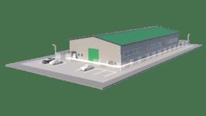 Типовой проект склада 20х50х8 (1000 кв.м.)